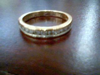 Lady's Diamond Wedding Band 12 Diamonds .60 Carat T.W. 14K Yellow Gold 2.9g