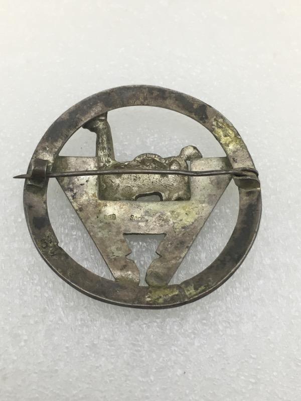 Coin Silver Incan Peruvian Inspired Tribal Llama Pin Brooch