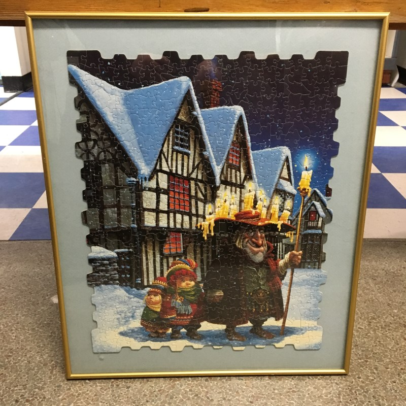 CHRISTMAS PUZZLE FRAMED