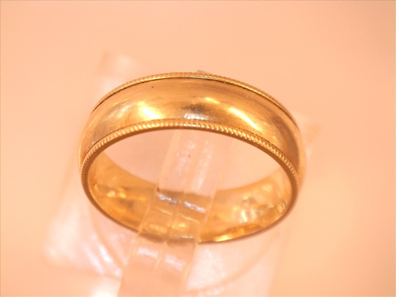 5MM WEDDING BAND WITH BEADED EDGE