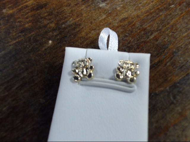 Gold Earrings 10K Yellow Gold 0.4g