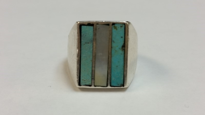 Native American Indian Turquoise Ring 925 Sterling Silver 13.7g Size:7