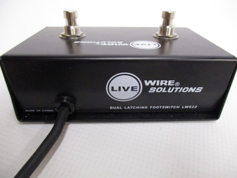 LIVEWIRE LWS22 DUAL LATCHING FOOTSWITCH