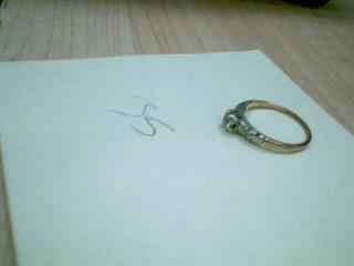 Lady's Diamond Solitaire Ring 3 Diamonds .26 Carat T.W. 14K Yellow Gold 1.5g