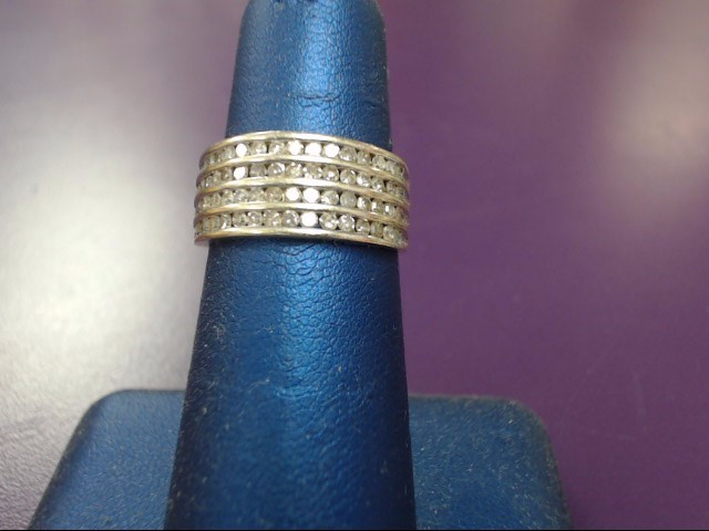 Lady's Diamond Cluster Ring 50 Diamonds .50 Carat T.W. 10K Yellow Gold 4.1g