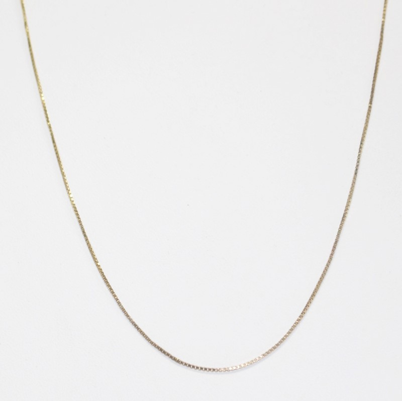 "16"" 14K YELLOW GOLD BOX CHAIN"