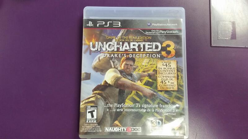 SONY PS3 UNCHARTED 3 - DRAKES DECEPTION GAME OF THE YEAR EDITION