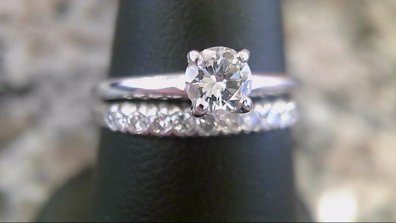 Lady's Diamond Wedding Set 10 Diamonds .34 Carat T.W. 14K White Gold 3.6g