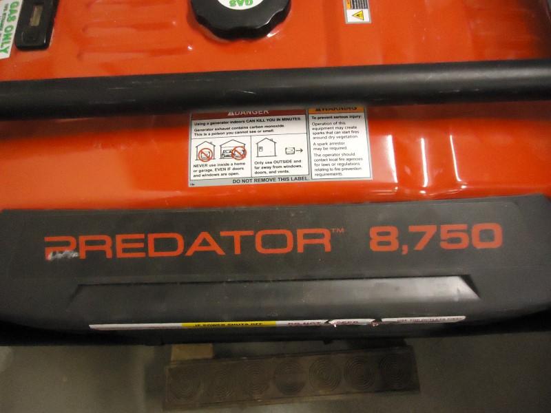 PREDATOR ENGINES Generator 8750 GENERATOR