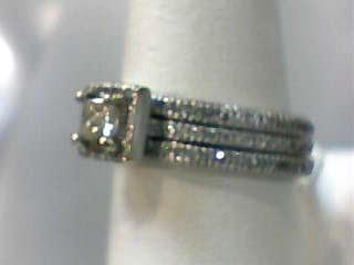 Lady's Diamond Wedding Set 141 Diamonds 1.300 Carat T.W. 14K White Gold 4.3dwt