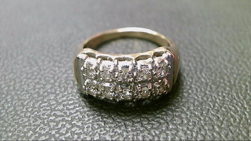Lady's Diamond Fashion Ring 10 Diamonds .80 Carat T.W. 10K 2 Tone Gold 5.6g