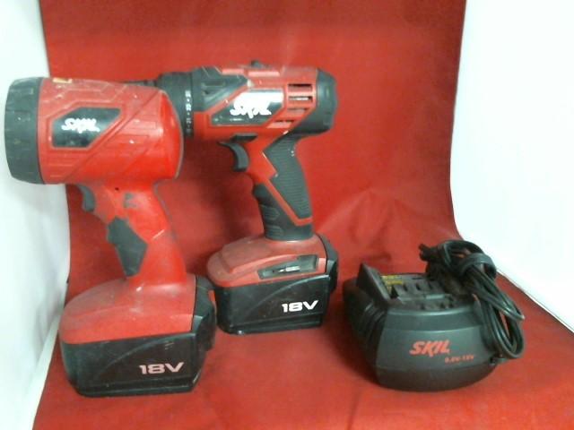 SKIL Combination Tool Set 2888-02 18V CORDLESS DRILL/DRIVER & FLASHLIGHT KIT