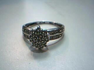 Lady's Diamond Cluster Ring 30 Diamonds .30 Carat T.W. 10K White Gold 2.5g