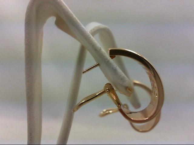 Gold-Diamond Earrings 60 Diamonds 1.20 Carat T.W. 14K Yellow Gold 8.1g