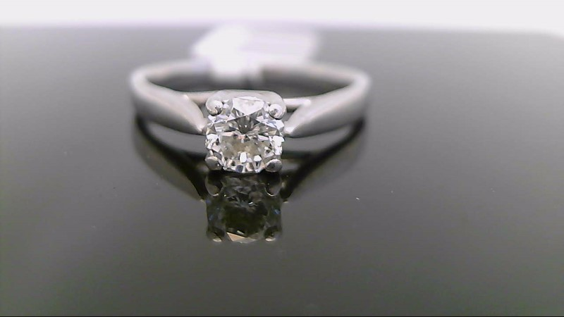 Lady's Diamond Solitaire Ring .50 CT. 14K White Gold 4.8g