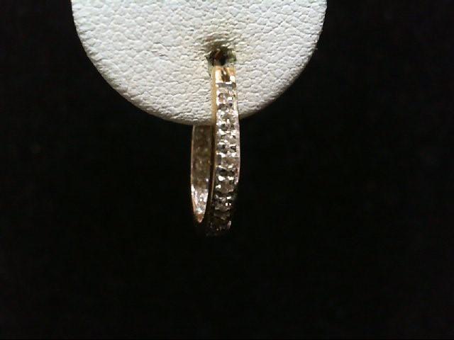 Gold-Diamond Earrings 30 Diamonds .30 Carat T.W. 14K Yellow Gold 2.6g