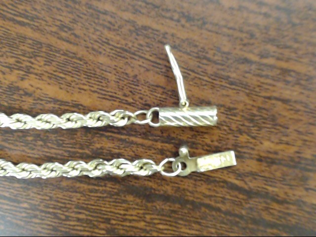 """VINTAGE ROPE TWIST NECKLACE CHAIN SOLID REAL 14K YELLOW GOLD 30"""""""