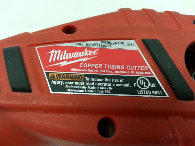 MILWAUKEE Copper Tubing Cutter 2471-20]