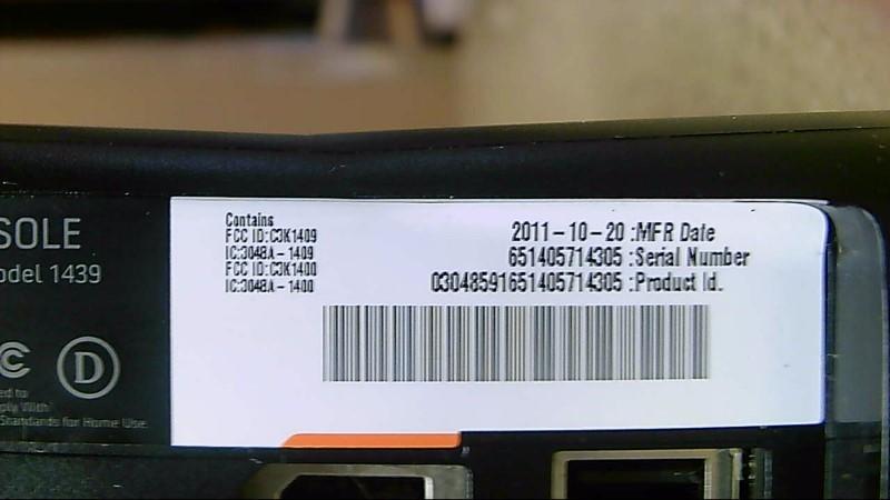 Microsoft Xbox 360 4G 1439 Black
