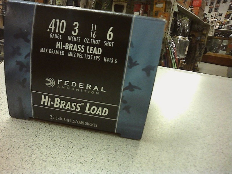 "FEDERAL AMMUNITION Ammunition 410 3"" 6 SHOT"