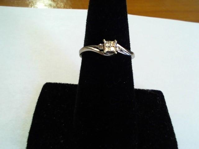 Lady's Gold-Diamond Anniversary Ring 6 Diamonds .10 Carat T.W. 10K White Gold