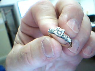 Lady's Diamond Engagement Ring 7 Diamonds .29 Carat T.W. 14K Yellow Gold 2.6g
