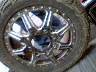 RIMS IN BLACK AND WHITE AND SILVER