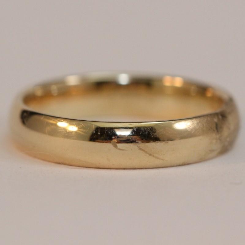 Lady's Gold Wedding Band 10K Yellow Gold 3.5g Size:7