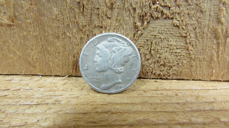 UNITED STATES Silver Coin 1940 MERCURY DIME