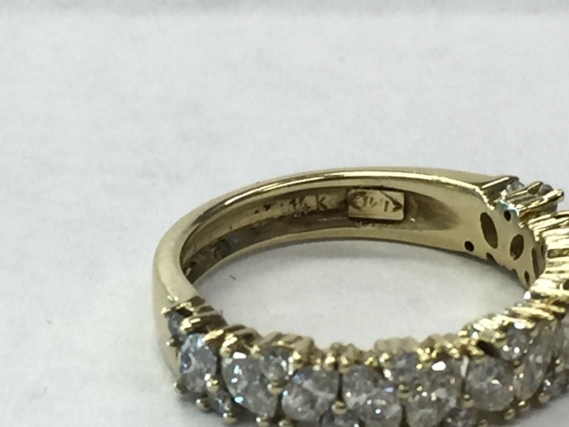 Lady's Diamond Fashion Ring 27 Diamonds .79 Carat T.W. 14K Yellow Gold