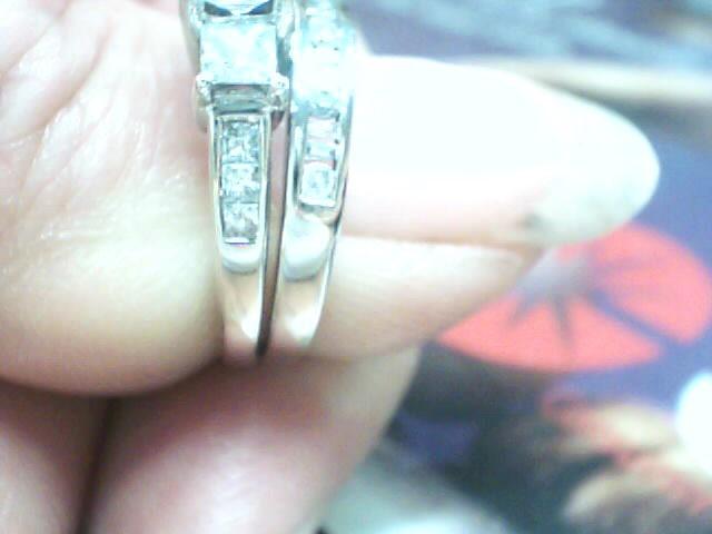 Lady's Diamond Wedding Set 22 Diamonds 1.05 Carat T.W. 14K White Gold 2.8dwt