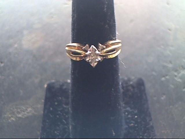 Lady's Diamond Cluster Ring 5 Diamonds .08 Carat T.W. 10K Yellow Gold 2dwt