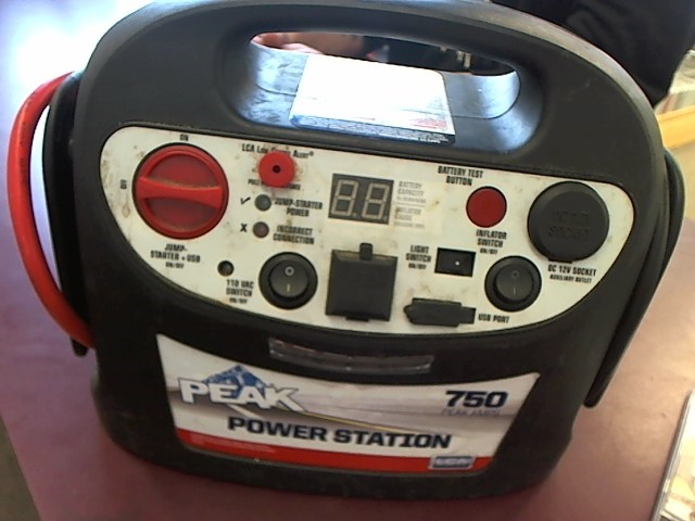 PEAK PERFORMANCE Battery/Charger POWER STATION 750