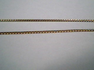 "24"" Gold Box Chain 14K Yellow Gold 2.6g"