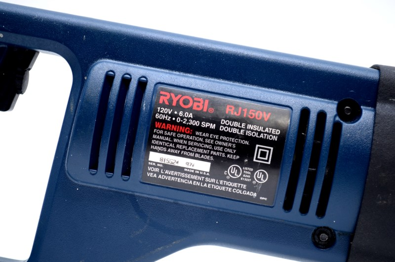RYOBI RJ150V 6A RECIPROCATING SAW WITH CASE *AS IS FOR PARTS/REPAIR*