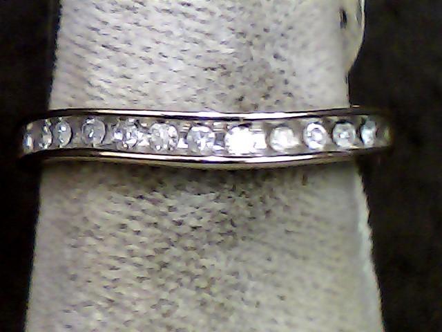 Lady's Diamond Wedding Band 12 Diamonds .060 Carat T.W. 10K Yellow Gold 0.06dwt