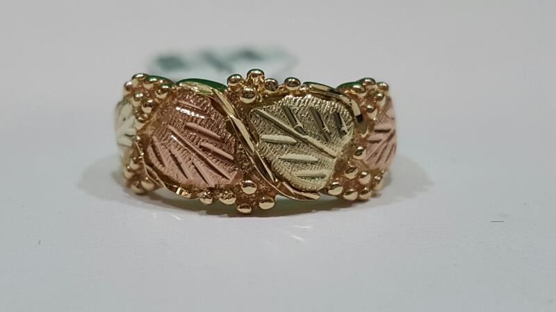 Lady's Gold Ring 10K Black Hills Gold 4g Size:4.7