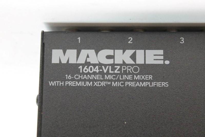 Mackie 1604-VLZ Pro 16-Channel Audio Mic/Line Mixer 3-band EQ>