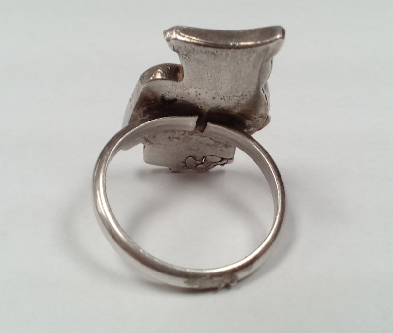Lady's Silver Ring 925 Silver 4.4g Size:6.5