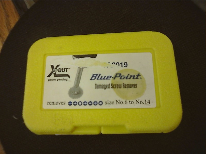 BLUE-POINT YA2019 DAMAGED SCREW REMOVER SET  No. 6 to No. 14 (3 pc)