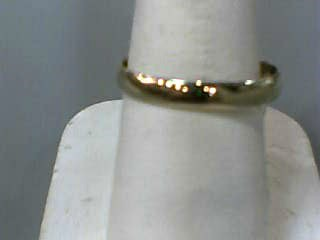 Gent's Gold Wedding Band 10K Yellow Gold 1.1dwt Size:10
