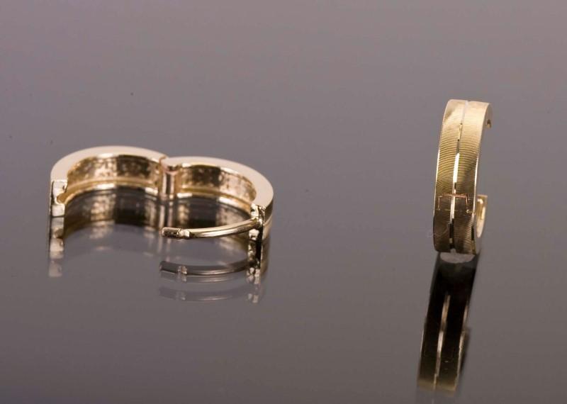 Gold Earrings 14K Yellow Gold 1.9g