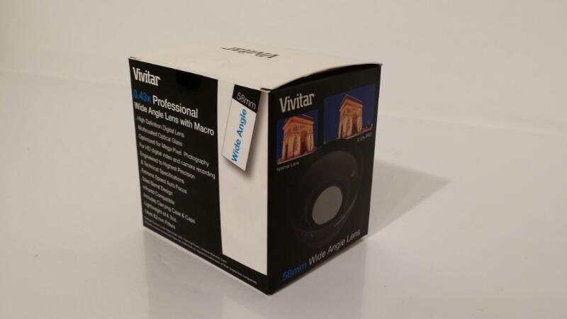 L@@K! VIVITAR 0.43X WIDE ANGLE LENS WITH MACRO