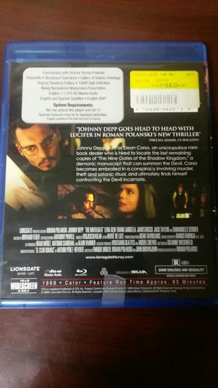 THE NINTH GATE BLUE RAY MOVIE