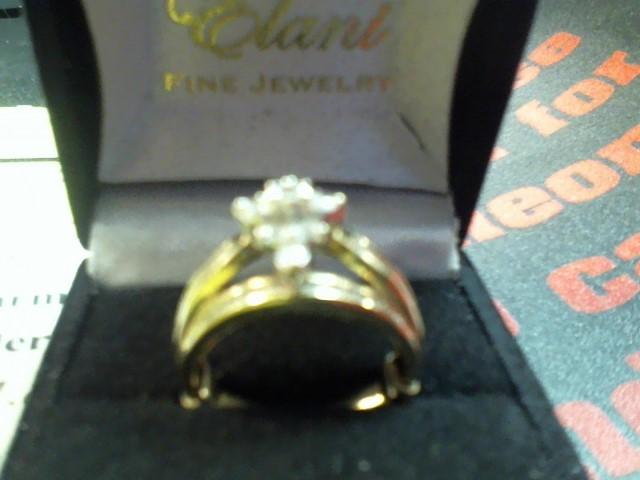 Lady's Diamond Cluster Ring 10 Diamonds .80 Carat T.W. 10K Yellow Gold 3.5g