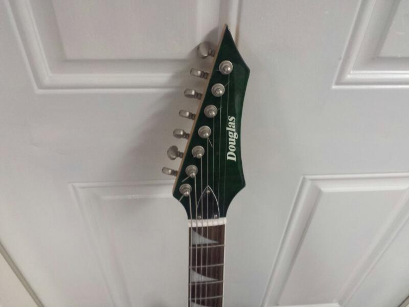 Douglas Scope 727 Tribal Green 7-String Electric Guitar