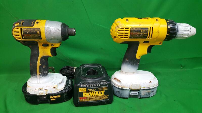 DEWALT Combination Tool Set DC825/DC759 COMBO SET 18V Impact And Drill