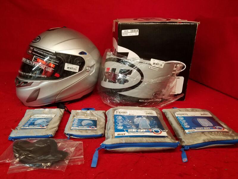 BILT Silver Solar Modular Helmet *Large* plus Extra's