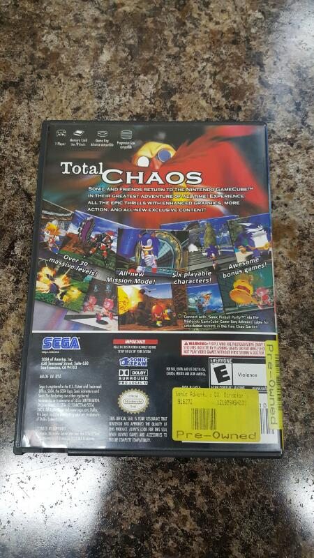 Sonic Adventure DX: Director's Cut (Nintendo GameCube, 2003)