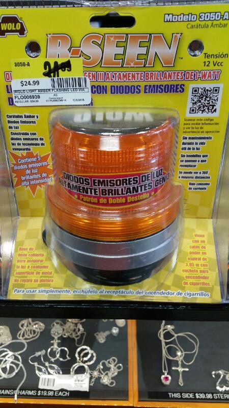 WOLO Light AMBER FLASHING LED WARNING LIGHT 080217030502